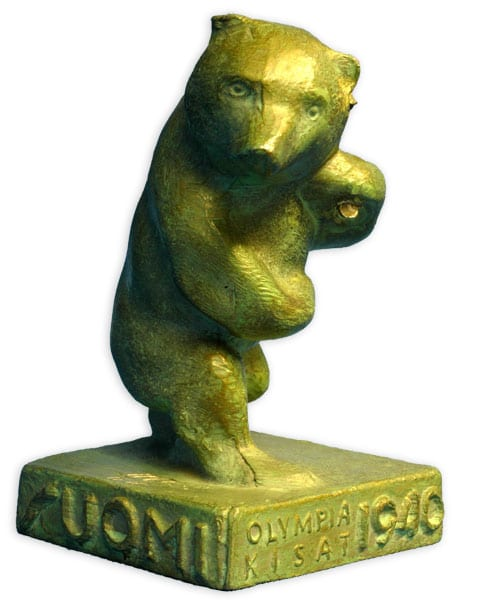 Helsinki Olympic Games 1940 Bear sculpture The Sports Museum of Finland