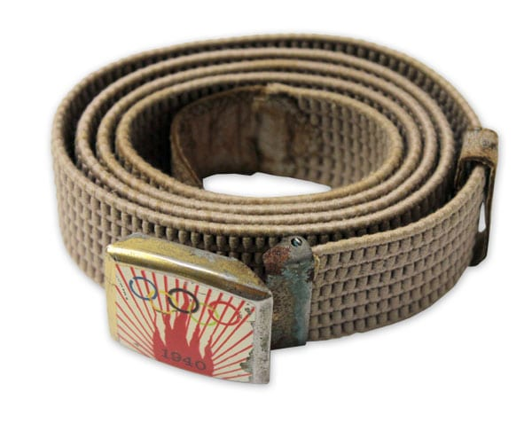 Helsinki Olympic Games 1940 Belt The Sports Museum of Finland