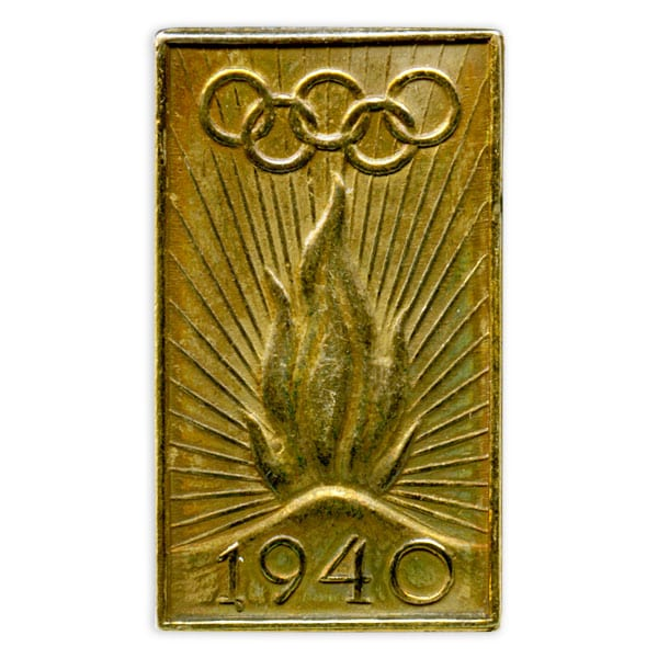 Helsinki Olympic Games 1940 Olympic pin The Sports Museum of Finland