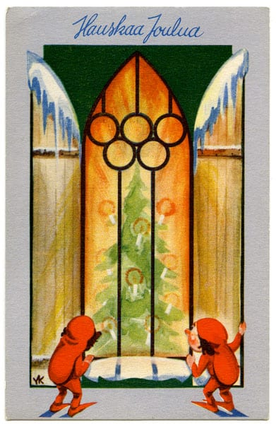 Helsinki Olympic Games 1940 Postcard The Sports Museum of Finland