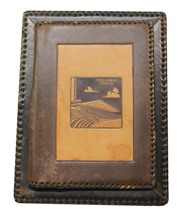 Helsinki Olympic Games 1940 Table notebook The Sports Museum of Finland