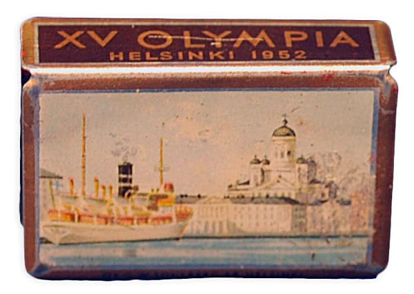 Helsinki Olympic Games 1952 Matchbox cover The Sports Museum of Finland