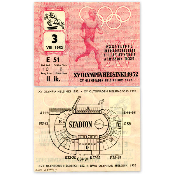 Admission ticket (equestrian showjumping)