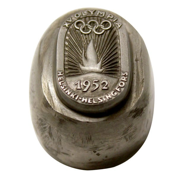 Helsinki Olympic Games 1952  Counterpiece of torch relay pin The Sports Museum of Finland
