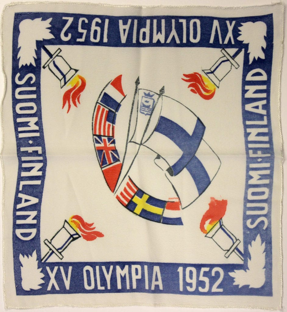 Helsinki Olympic Games 1952  Handkerchief The Sports Museum of Finland