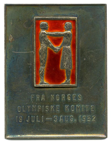 Helsinki Olympic Games 1952  Medal of the Norwegian Olympic CommitteeThe Sports Museum of Finland