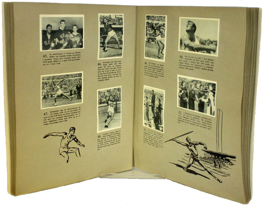 Helsinki Olympic Games 1952  Olympic collection photo scrapbook The Sports Museum of Finland