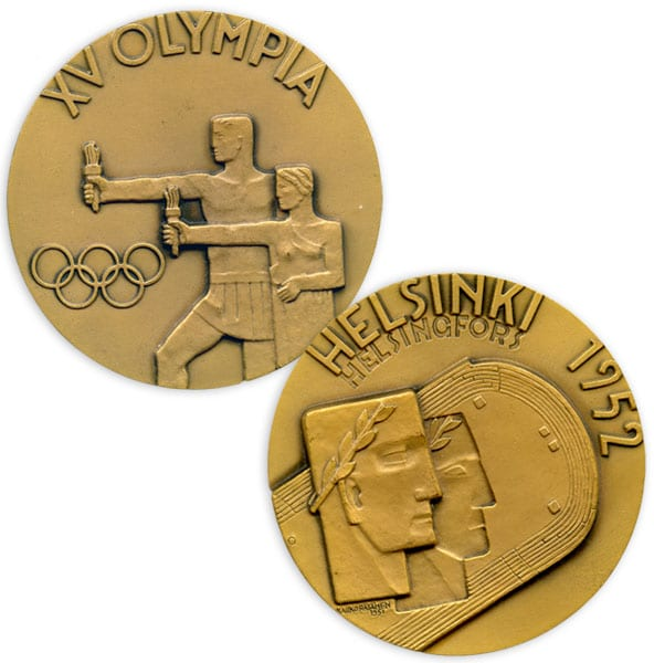 Helsinki Olympic Games 1952  Olympic commemorative medal The Sports Museum of Finland