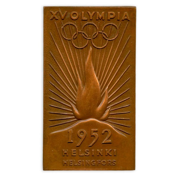 Helsinki Olympic Games 1952  Olympic torch relay plaque The Sports Museum of Finland