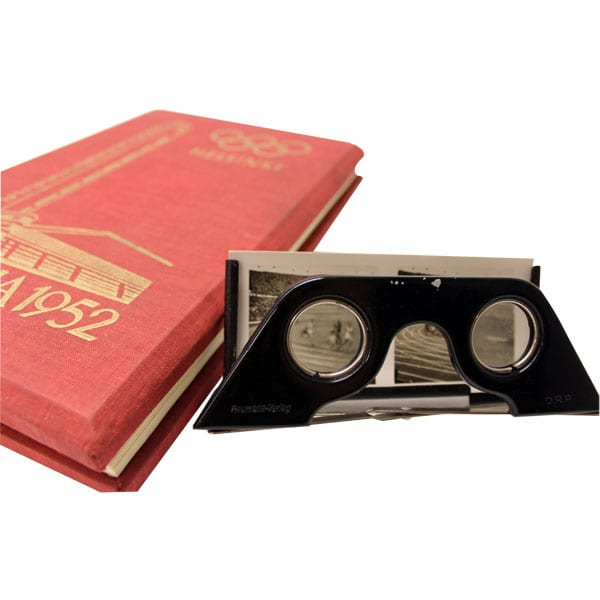 Helsinki Olympic Games 1952 Book with stereo picture slides The Sports Museum of Finland