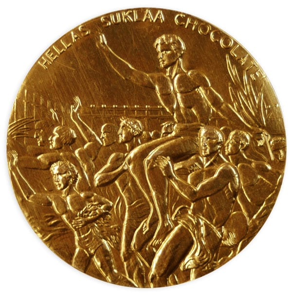 Helsinki Olympic Games 1952 Chocolate medal The Sports Museum of Finland