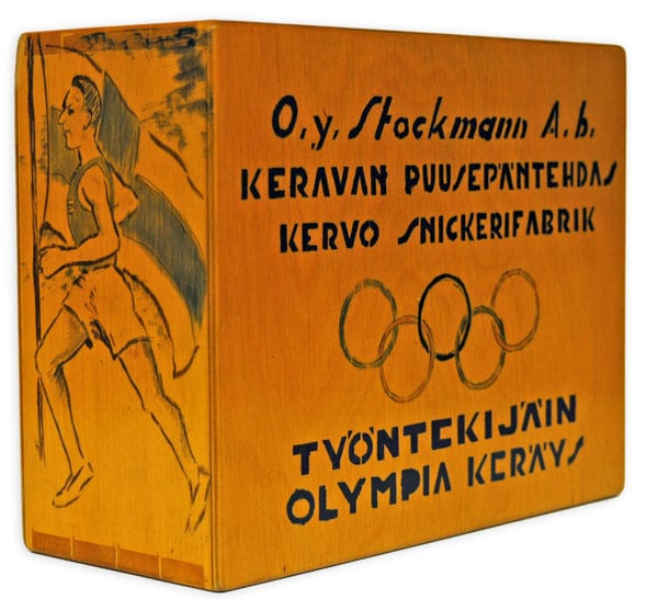 Helsinki Olympic Games 1952 Collection box The Sports Museum of Finland