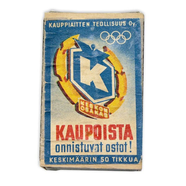 Helsinki Olympic Games 1952 Matchbox The Sports Museum of Finland