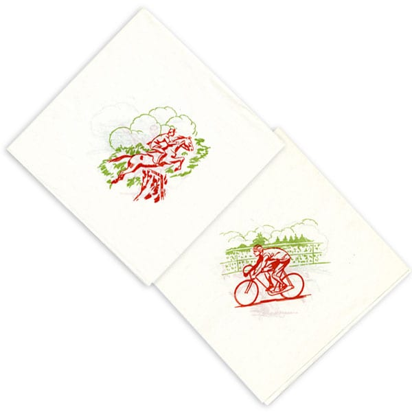 Helsinki Olympic Games 1952 Napkin The Sports Museum of Finland