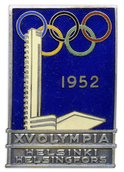 Helsinki Olympic Games 1952 Officials' badge The Sports Museum of Finland