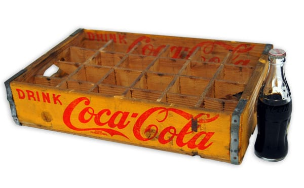 Helsinki Olympic Games 1952 Soft drink case (Coca-Cola) The Sports Museum of Finland