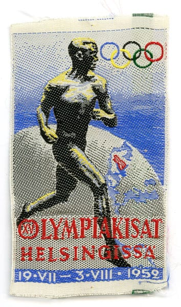 Helsinki Olympic Games 1952 Sleeve mark The Sports Museum of Finland