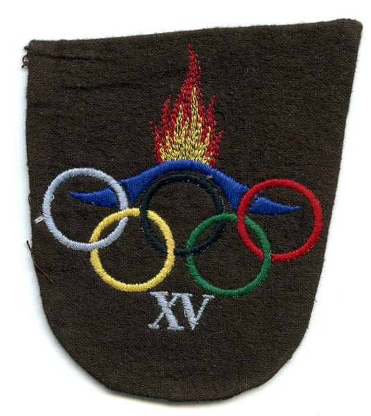 Helsinki Olympic Games 1952 Textile badge The Sports Museum of Finland