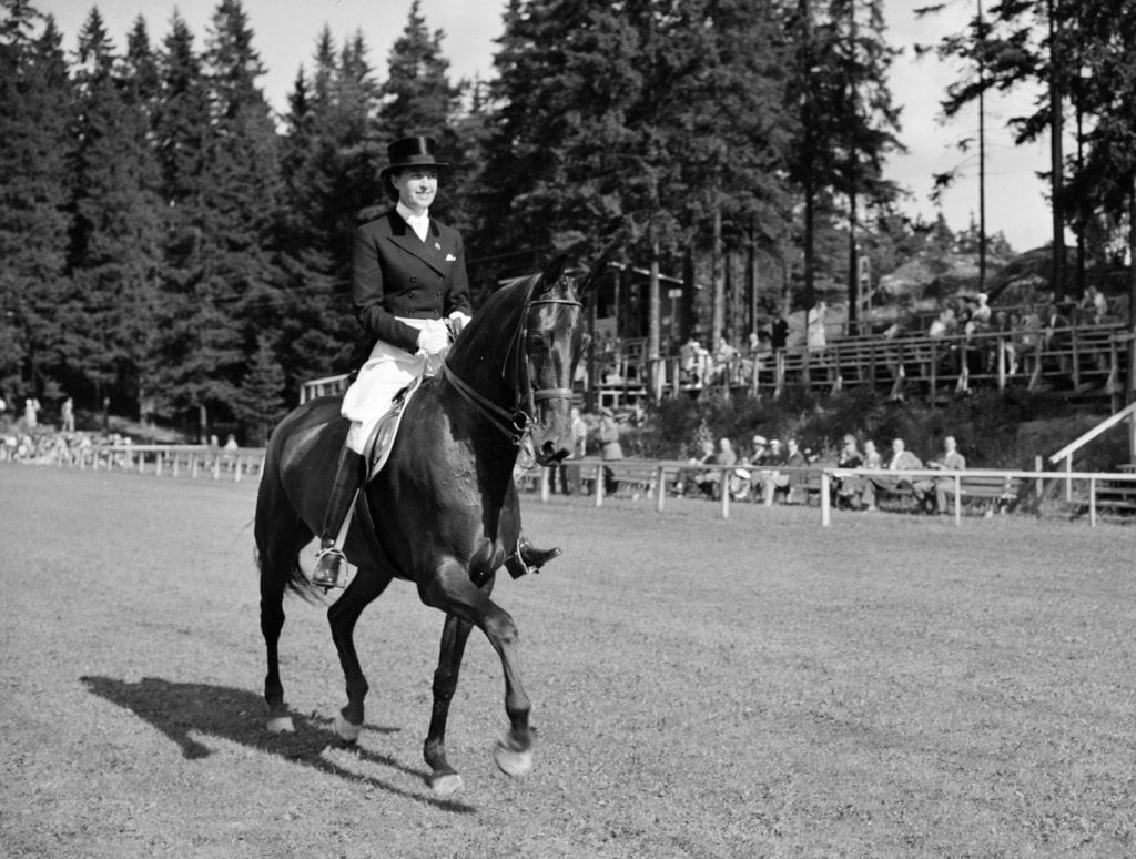 Lis Hartel in the Olympic dressage competition